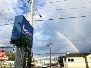 Read more about the article Double Rainbow Because THE SUN CAME OUT & We Didn't Have To Rain Check Any Reser… – Stefano's Restaurant LBI