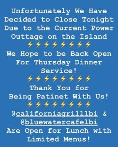 Read more about the article Unfortunately We Have to Close Tonight due to the Widespread Power Outage // We … – Stefano's Restaurant LBI
