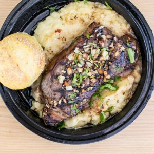 Read more about the article Summer Storms Aren't All Bad, Take Out Garlic Steak is Never a Bad Option // Cal… – Stefano's Restaurant LBI