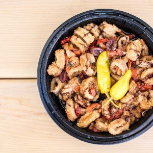 Read more about the article Mediterranean Calamari for MDW…YES PLZ || Open for Pick Up 3-9 Thru Monday, Pr… – Stefano's Restaurant LBI