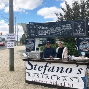 Perfect Day for CHOWDA || Booth is set your for free samples and chowder sales! … – Stefano's Restaurant LBI